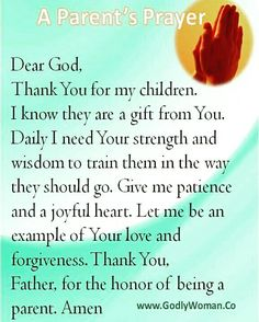 Prayer for parents, prayer for my children, love my children quotes, powe. Prayer For Parents, Prayer For My Children, Holy Mary, Power Of Prayer, My Prayer, Daily Prayer, Prayer List, Prayer Wall, Parenting Quotes