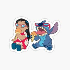 Stickers featuring millions of original designs created by independent artists. Stickers Cool, Preppy Stickers, Bubble Stickers, Printable Stickers, Lilo Stitch, Aesthetic Stickers, Transparent Stickers, Sticker Design, Cute Wallpapers