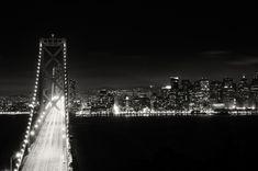black and white bay bridge (Ted-Bay bridge)