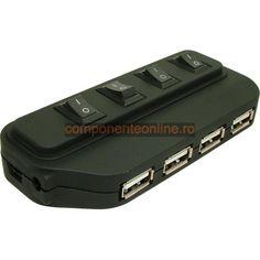 HUB USB cu intrerupator, 4 porturi - 114228