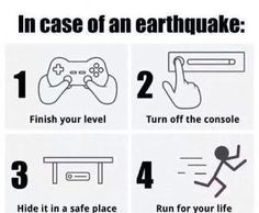 In case of an earthquake...