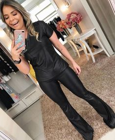 Wide Leg Jeans, Leather Fashion, Bell Bottoms, Flare, Women Wear, Jumpsuit, Sexy, 224, How To Wear