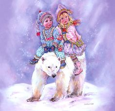 Ours polaire enfants Christine haworth