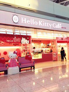 Hello Kitty Cafe, Incheon International Airport!!!! someday!!!