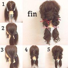 手軽で可愛い!簡単なのに凝って見えるヘアアレンジ|【HAIR】