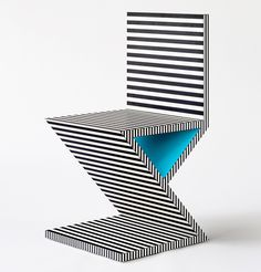 db – The Neo Laminati Collection by Kelly Behun features bold patterns and bright colors that pay homage to the Memphis Group design movement that happened during the early Table Design, Chair Design, Design Furniture, Modern Furniture, Art Furniture, Furniture Chairs, Furniture Stores, Dining Chairs, Conception Memphis