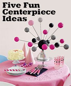 Five Fun Centerpiece Ideas at Dollar Store Crafts I think this would make a cool ceiling decoration for a kids room~Leah