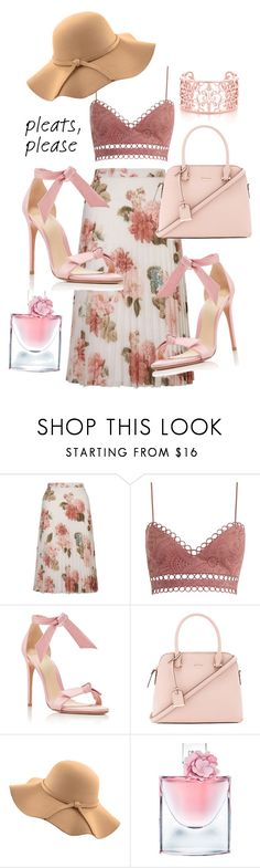 """""""Untitled #15"""" by margrae ❤ liked on Polyvore featuring Miss Selfridge, Zimmermann, Alexandre Birman, Kate Spade, WithChic and Lancôme"""
