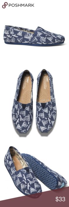 TOMS classics, size 13 Sailboats print Brand New TOMS classics, size 13 Sailboats print Brand New in box. Classic Canvas Slip On. Toms Shoes