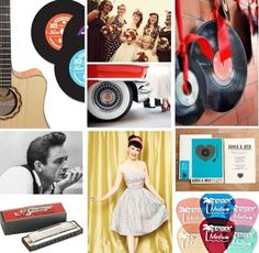 Rockabilly Wedding: Have A Swingin' Reception With Retro, Record-Themed Decor.  A good lighting scheme could really step this up one more rockin' notch.