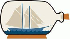 Silhouette Design Store - View Design #61423: ship in a bottle