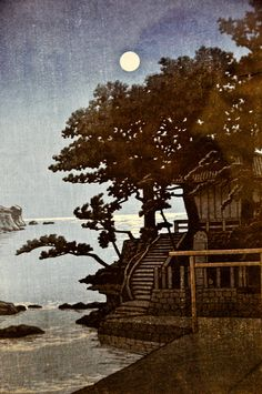 Kawase Hasui - Kakizaki Bentendo Shrine Shimoda, 1937 at the Virginia Museum of Fine Arts (VMFA) Richmond VA by mbell1975, via Flickr