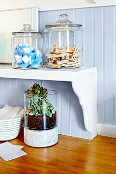DIY Laundry Room Storage Shelves Ideas Laundry room decor Small laundry room organization Laundry closet ideas Laundry room storage Stackable washer dryer laundry room Small laundry room makeover A Budget Sink Load Clothes Creative Storage, Diy Storage, Storage Ideas, Storage Shelves, Storage Solutions, Storage Jars, Clothes Storage, Shelving, Small Space Storage