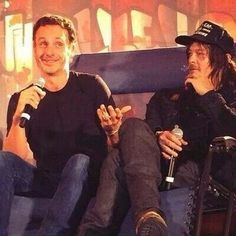 Andrew Lincoln & Norman Reedus 10/18/14 #WSCA