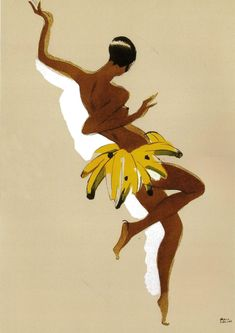 Josephine Baker Banana Poster Giclee Art Print WIth Stretched Canvas Option **Please note: additional images are shown as an example of Josephine Baker Banana Skirt, Vintage Posters, Vintage Art, Art Posters, Graffiti, Black Thunder, African American Makeup, Paris Poster, Ligne Claire
