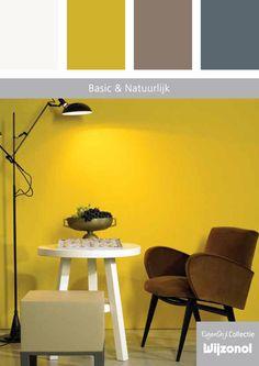 Basic & Natuurlijk – gele wand en bruine stoel. Kom vrijblijvend eens langs om te kijken. Dit artikel is bij ons verkrijgbaar in de winkel. Weevers Zutphen, Jutlandsestraat 1 te Zutphen. 0575-517665. En door ons bedrijf Kamphuis Schilders te plaatsen.