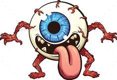 Eyeball Monster by memoangeles Eyeball monster. Vector clip art illustration with simple gradients. All in a single layer. Graffiti Art, Graffiti Doodles, Graffiti Cartoons, Graffiti Characters, Graffiti Drawing, Desenho New School, Desenhos Halloween, Dope Cartoon Art, Posca Art