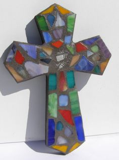 Your place to buy and sell all things handmade Crosses Decor, Wall Crosses, Handmade Home, Handmade Gifts, Mosaic Crosses, Mosaic Wall Art, Outdoor Crafts, Spiritual Gifts, Religious Gifts