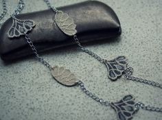 Leather and lace necklace