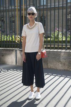 Pin for Later: Ob Sonnenschein, Regen oder Schnee: Culottes sind immer 'ne gute Idee! Street Style Culottes