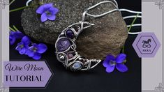 ✏️ This is an intermediate-level tutorial. Some wire work experience would be helpful in completing this project, but is not strictly necessary. Wire Tutorials, Craft Tutorials, Moon Jewelry, Diy Jewelry, Wire Work, Wicca, Diy Tutorial, Wire Wrapping, Gemstone Beads