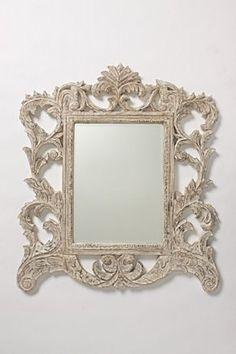 Vine Gardener Mirror from Anthropologie. Shop more products from Anthropologie on Wanelo. Fancy Mirrors, Ornate Mirror, Wood Mirror, Mirror Mirror, Bath Mirrors, Hallway Mirror, Distressed Mirror, White Mirror, Mirror Image