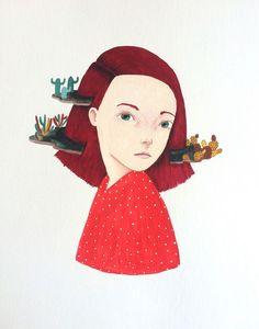 Prickly head on Behance by Laura Bernard