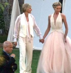 Celebrity best dressed brides of all time - Portia de Rossi
