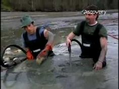 """""""Dirty Jobs"""" Geoducks with Mike Rowe and my cousin Brian"""
