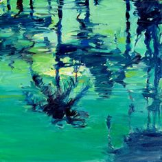 Reflective Palms - oil by ©Darrell Hill (via ArtistRising)