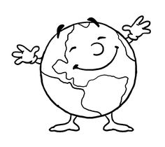 Earth Day Coloring Pages, Cute Coloring Pages, Coloring Pages To Print, Free Printable Coloring Pages, Adult Coloring Pages, Coloring Pages For Kids, Free Coloring, Coloring Books, Science Tools