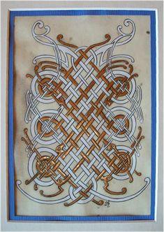 Celtic Artwork - Gilles Herrier Fr. http://www.enluminures-celtes.com/entrelacs.htm