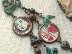 Repurposed Playing Card Necklace Belle Armoire Jewelry by lilruby