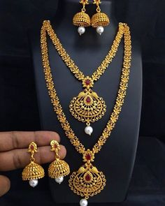 Fulfill a Wedding Tradition with Estate Bridal Jewelry Gold Necklace Simple, Gold Jewelry Simple, Gold Necklaces, Gold Bangles, Gold Earrings Designs, Necklace Designs, Silver Jewellery Indian, Gold Jewellery, Jewelry Model