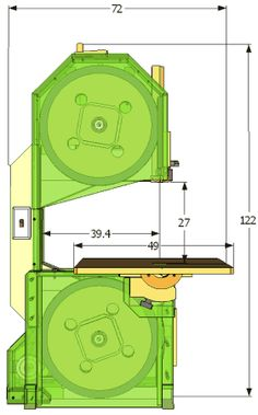 Bandsaw specifications