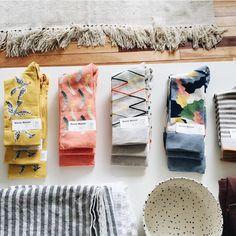 Regram from @moreandco  Kimono socks in their nice portland shop & studio