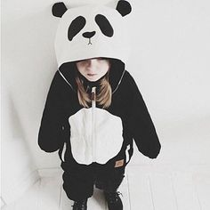 27.65$  Watch now  - New Boys&Girls Casual Sets Fashion Animal Pattern Panda Cotton Coat+Pants Two-piece Sets Children Clothing Male&Female Baby Suit