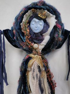 OOAK  Healing Spirit Doll Earth Mother Blue by JoyfulEssence on Etsy.  Now hanging in my room!  Love it!  Arzie Hodge