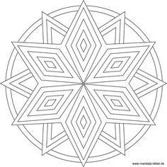 Sternen Mandala Vorlage zum gratis Download