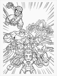 359 Best Comic Book Coloring Pages Images Coloring Books Coloring