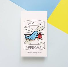 Seal of Approval Enamel Pin - Lapel Pin by ShawnaSmythStudio on Etsy
