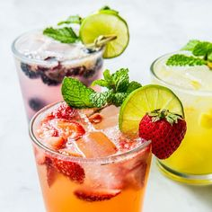 Mojitos, 3 Ways Gives You A Perfect Drink No Matter Your Choice Refreshing Cocktails, Classic Cocktails, Summer Cocktails, Cuban Mojito, Fuzzy Navel, Mojito Cocktail, Pineapple Rum, Strawberry Margarita, Mojito Recipe