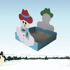 Trakteerdoos sneeuwpop