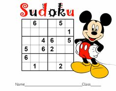 Mickey Mouse Sudoku Printable from Printable Maze For Kids category. Find out more awesome coloring sheets for your kids Disney Activities, Disney Games, Disney Fun, Activities For Kids, Disney Theme, Walt Disney, Mazes For Kids Printable, Printable Board Games, Fun Board Games