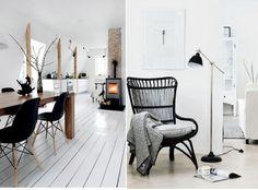 Zweeds interieur. I love it! Stoel is van IKEA. Storsele
