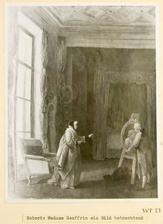 An 18th-century Hubert Robert work showing the curtains that served as Rothschild's inspiration. Photo courtesy of Veil-Picard Collection, Paris