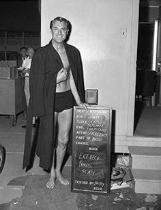 Cary Grant costume test for An Affair to Remember