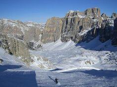Die schönste Abfahrt der Dolomiten ... Lagazoui-Gipfel nach Armentarola