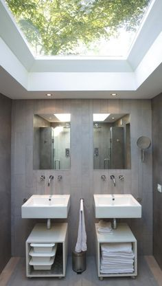 I like the idea of a skylight that big in the bathroom