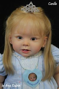 """So Real Reborn Baby Toddler Girl Doll Bonnie by Linda Murray Now """"Camille"""" Reborn Toddler, Toddler Dolls, Child Doll, Reborn Baby Dolls, Girl Dolls, Toddler Girl, Life Like Baby Dolls, Life Like Babies, Miniature Dolls"""